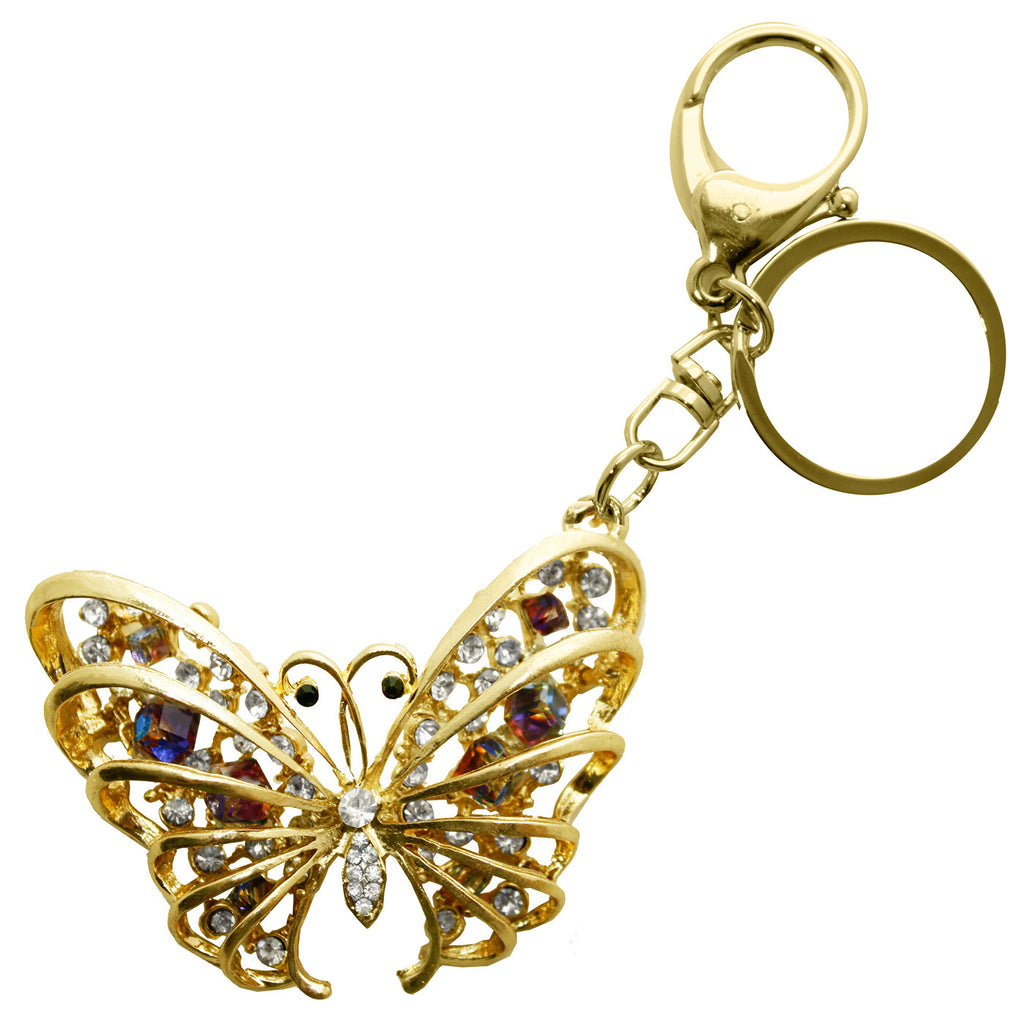 3D Butterfly Rhinestone Key Chain