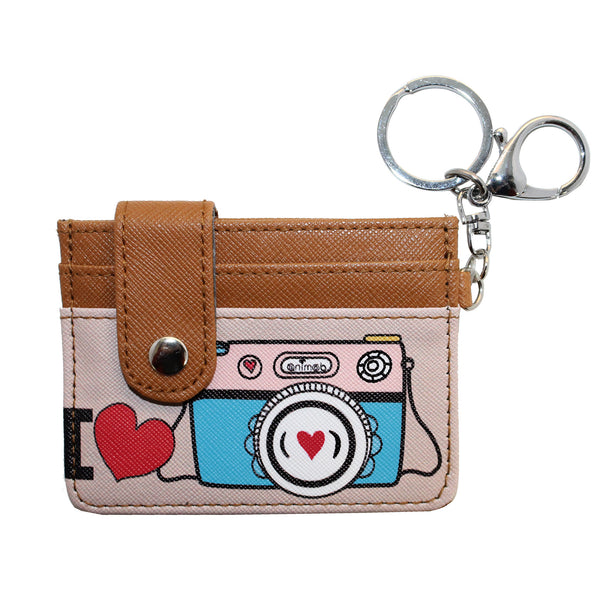 I Love Camera Wallet Card ID Holder