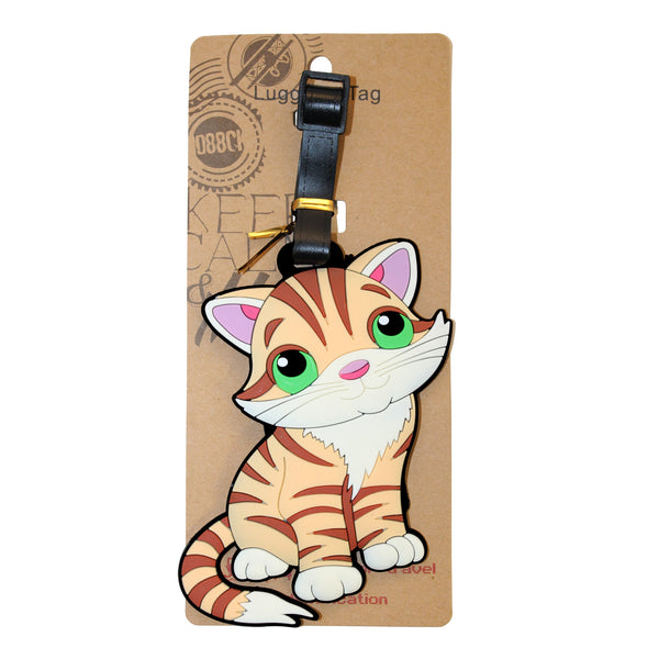 Cute Kitten Cat PVC Luggage Tag (Comes in packs of 12 - $2.50 each)