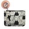 Black & White Cats Wallet Coin Purse Accessory