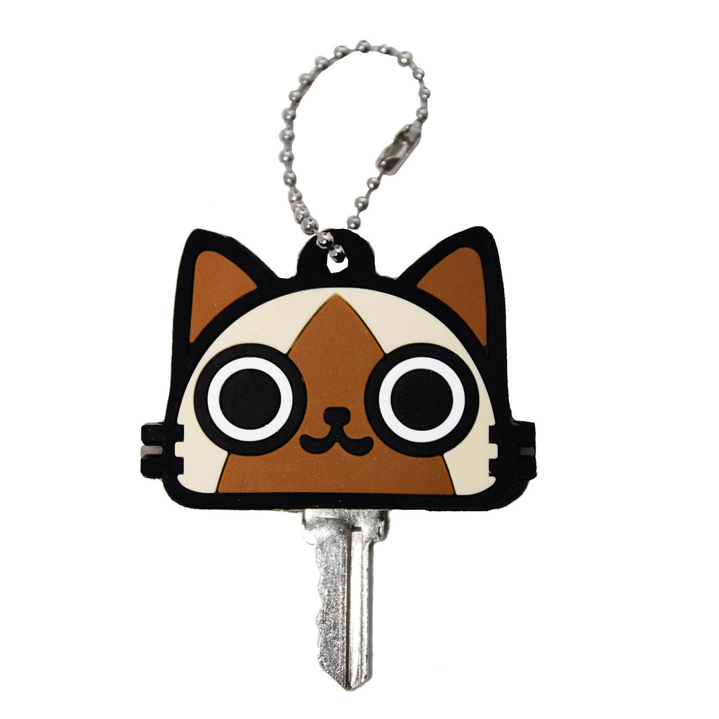 Brown Cat PVC Key Cap Cover