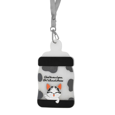 Cheese Cat ID Card Holder Name Badge Lanyard