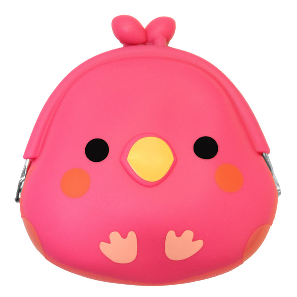 Pink Chick Silicone Coin Purse with Buckle