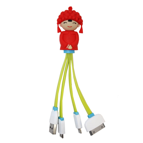 Girl in Red 4-in-1 USB Cable