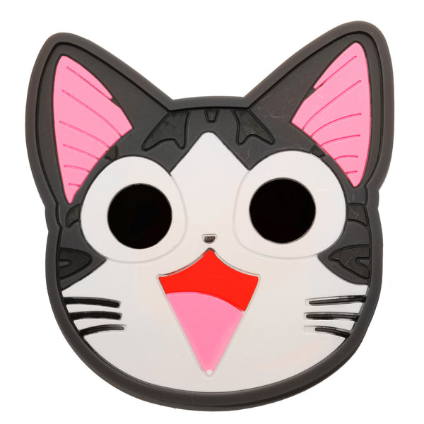 Gray Cheese Cat PVC Mug Cup Coaster