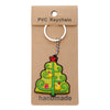 Christmas Tree with Birds PVC Key Chain