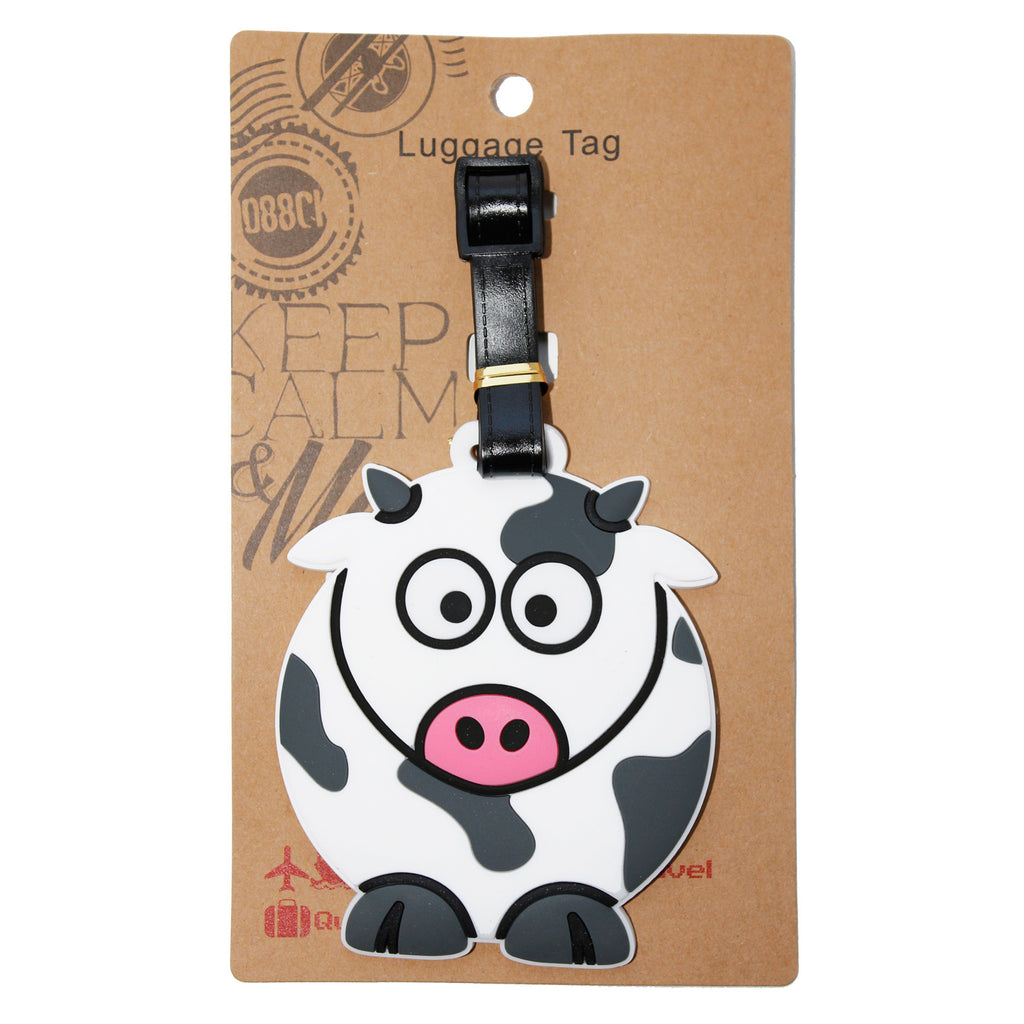 Cow Lugagge Tag (Comes in packs of 12 - $2.50 each)