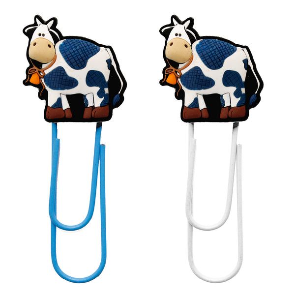 Large Cow Bookmark Paper Clips