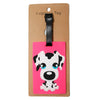 Dalmatian Dog Large Pink Luggage Tag (Comes in packs of 12 - $2.50 each)