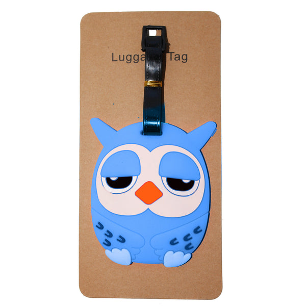 Dark Blue Owl Luggage Tag (Comes in packs of 12 - $2.50 each)