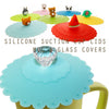 Crystal Knob Suction Cup Lid Mug Cover