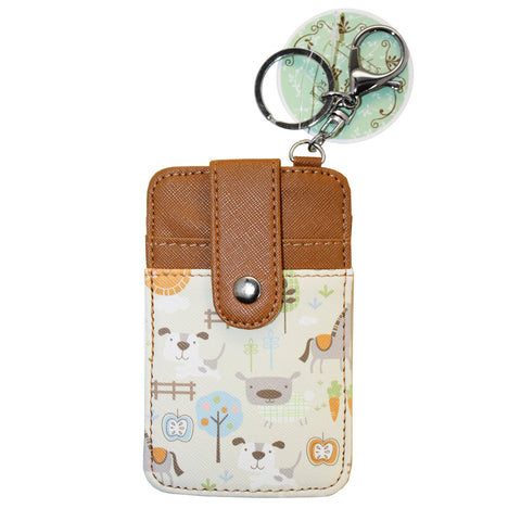 Brown Puppy Dog Wallet Card Holder Accessory