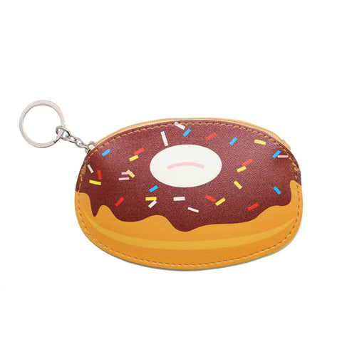 Brown Donut Wallet Coin Purse Accessory