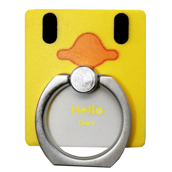 Yellow Duck Phone Ring Holder Stand
