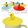 Rubber Duck Suction Cup Lid Mug Cover