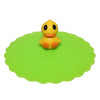 Cute Yellow Duck Suction Cup Lid Mug Cover