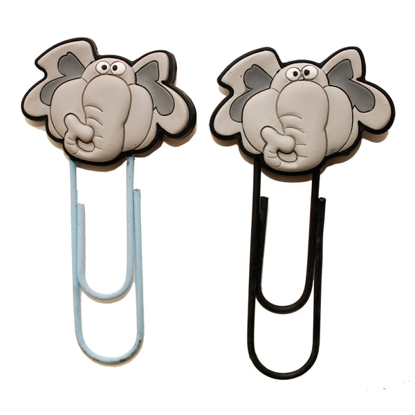 Elephant PVC Big Bookmark Paper Clip
