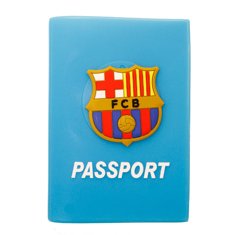 Blue FCB Barcelona Football Passport Cover