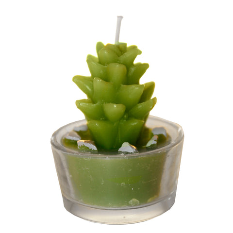 Green Cactus Shaped Mini Candle Style 4