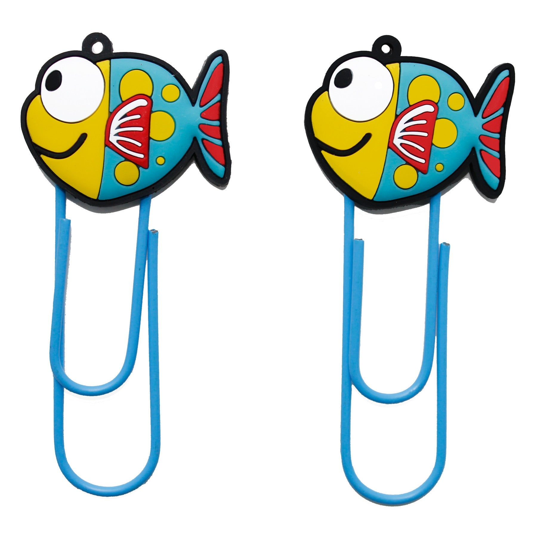cute fish pvc bookmark paper clip – ufindings, inc.