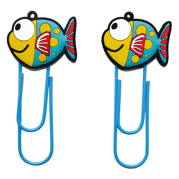 Cute Fish PVC Bookmark Paper Clip