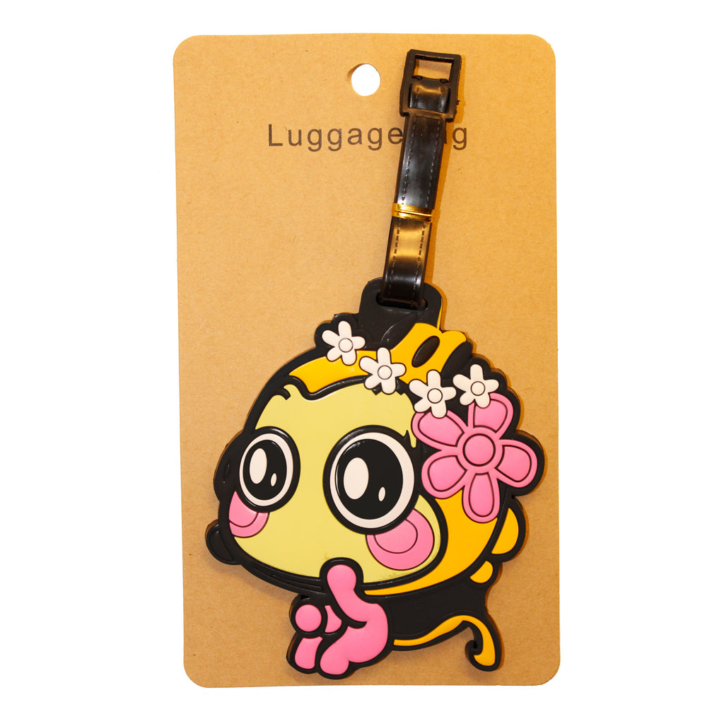 DIY Yellow Fish with Flower Travel Luggage Tag (Comes in packs of 12 - $2.50 each)
