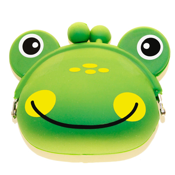 Green Frog Animal Silicone Coin Purse with Buckle