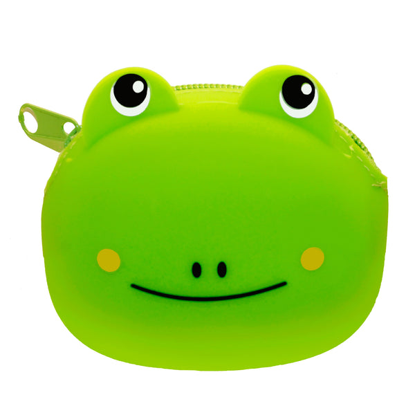 Green Frog Animal Silicone Rubber Coin Purse
