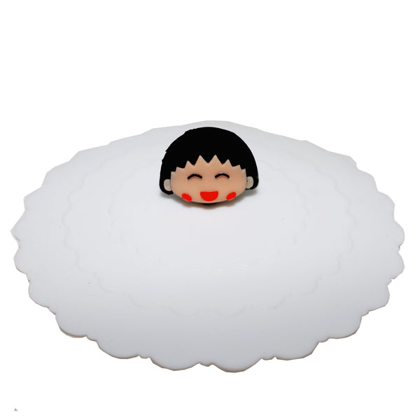 Little Girl Suction Cup Lid Mug Cover