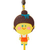 Little Girl Yellow PVC Photo Holder Business Card Clip Hanger