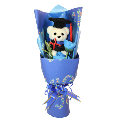 Graduation Day Hard Foam Blue Bear Bouquet (Comes in box of 60 - $4.50)