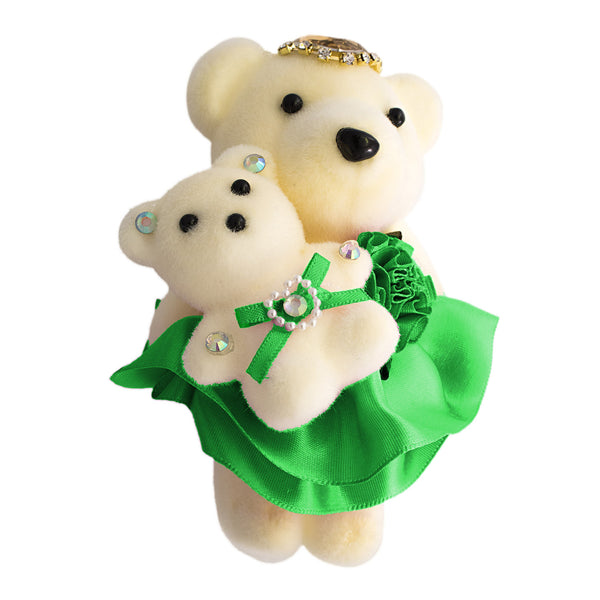 Green Mom and Daughter Hard Foam Bears for Bouquets (Comes in pack of 10 - $0.75)
