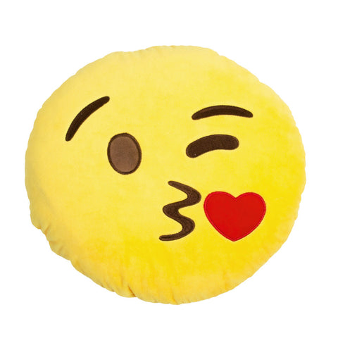 Face Throwing a Kiss Emoji Plush Pillow