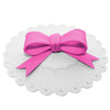 Hot Pink Bow Ribbon Suction Cup Lid Mug Cover