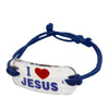 I Love Jesus Bracelet Assorted Color 12 Pcs Pack
