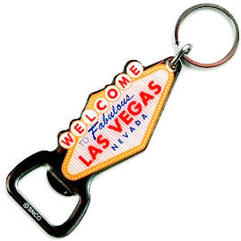 Las Vegas Nevada Bottle Opener Key Chain Custom Promotional Item