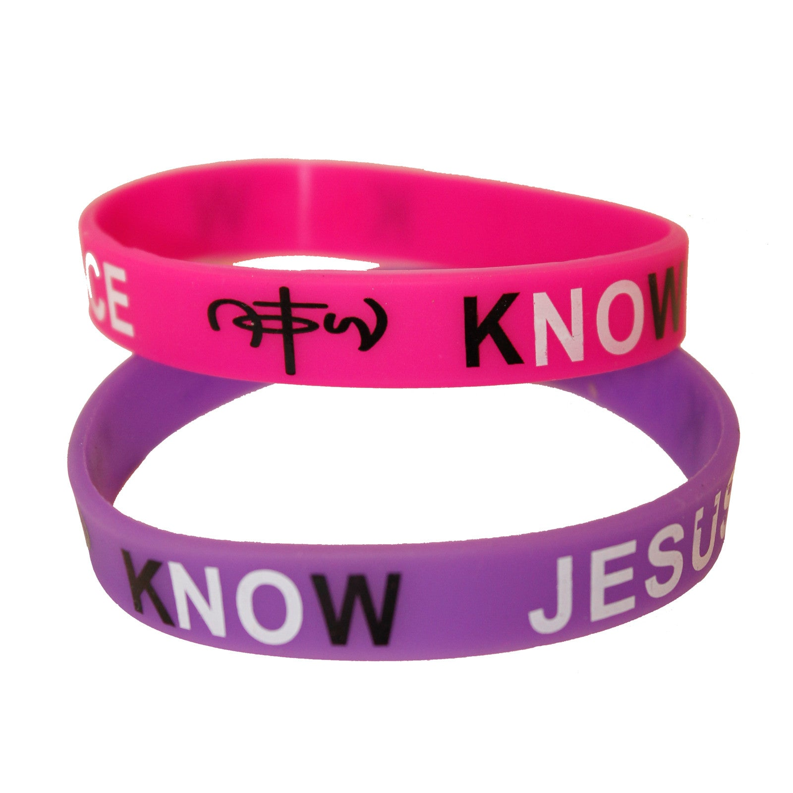 Know Jesus Know Peace Silicone Wristband Bracelet Assorted Color 12 ...