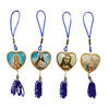 Assorted Jesus Mary Religious 10 Pcs String Hanger Key Chain