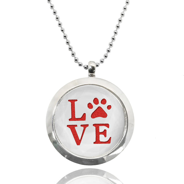 Love Stainless Steel Locket Essential Oil Necklace