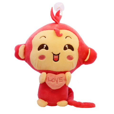 Pink Monkey Hanging Plush Stuffed Toy