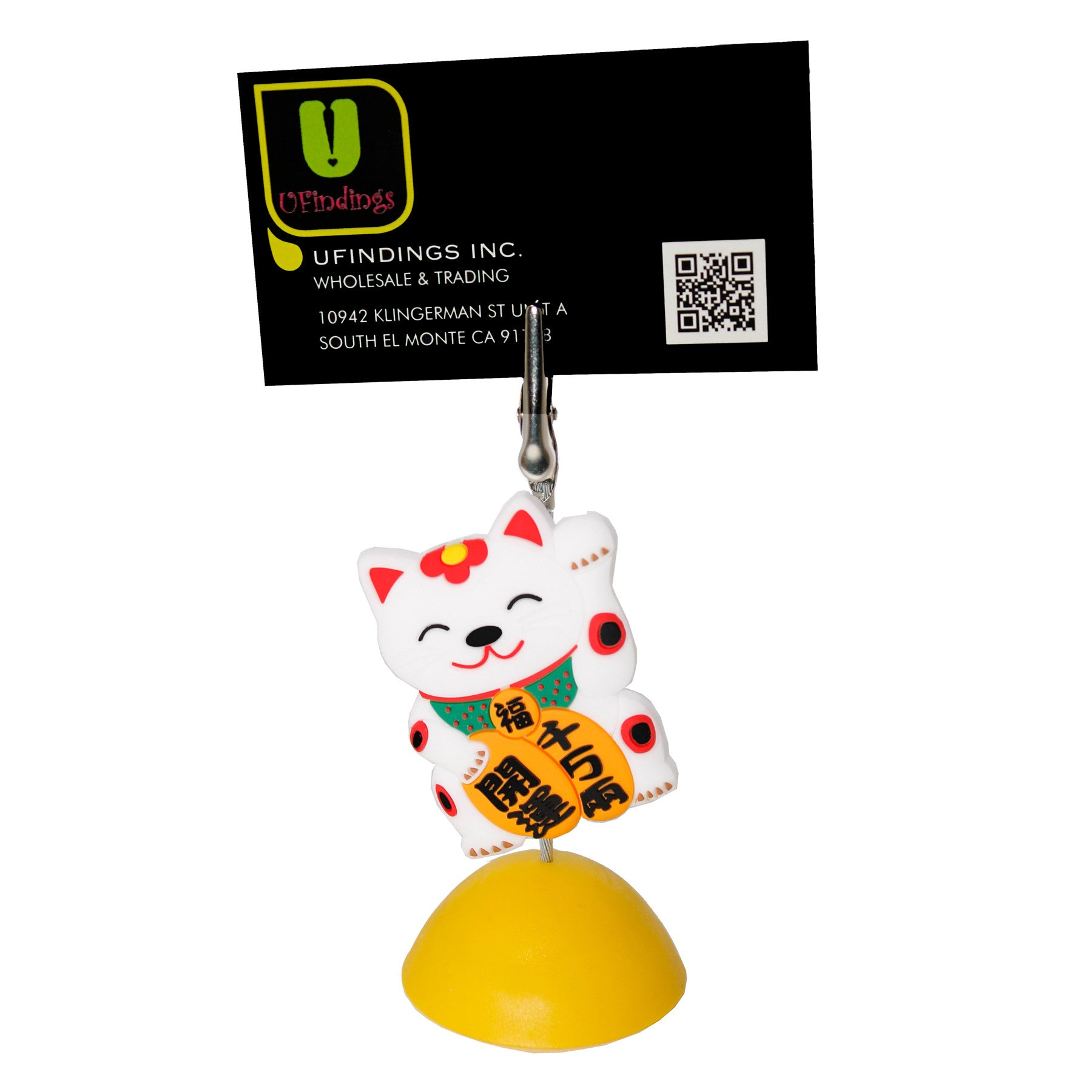 Chinese Lucky Cat Photo Holder Business Card Clip Hanger – UFINDINGS ...