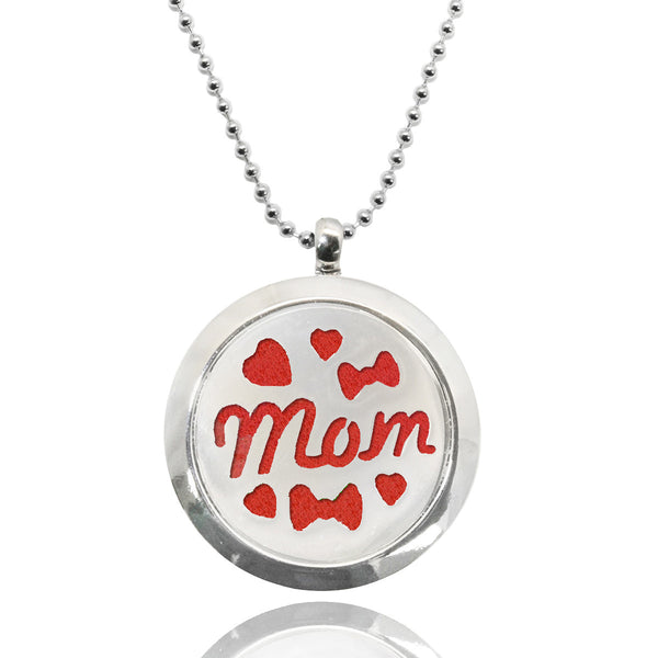 Mom Stainless Steel Locket Essential Oil Necklace