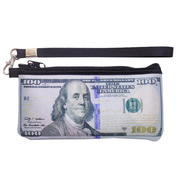 100 US Dollar Bill w/ Strap Coin Purse
