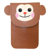 Brown Monkey Purse Bag with Strap