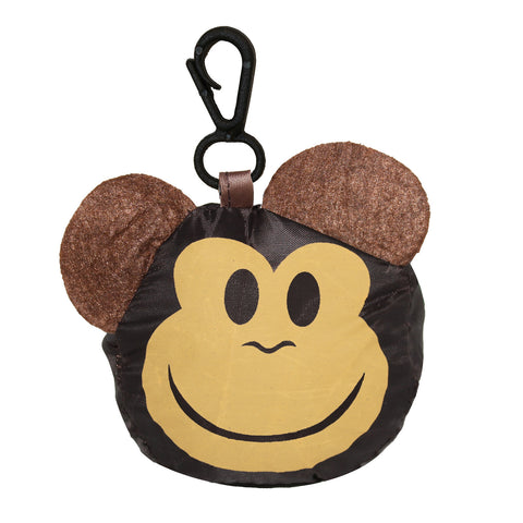 Brown Monkey Foldable Shopping Bag