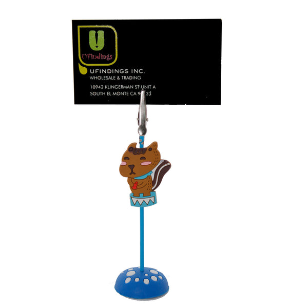 Brown Otter PVC Photo Holder Business Card Clip Hanger
