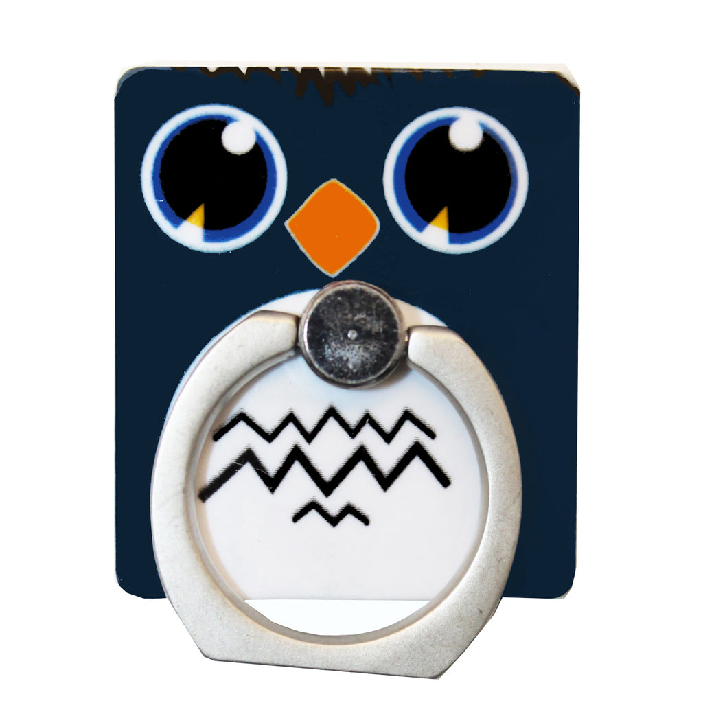 Blue Owl Phone Ring Holder Stand