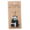 Panda with Eucalyptus PVC Key Chain