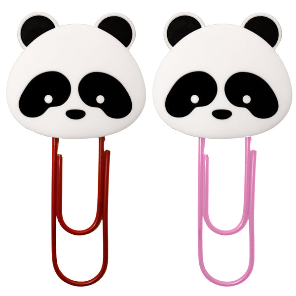 Panda Head Bookmark Paper Clips