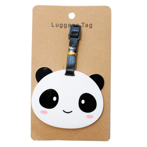 Panda Bear PVC Luggage Tag (Comes in packs of 12 - $2.50 each)
